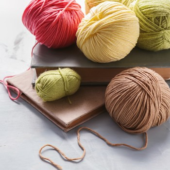 yarn with books
