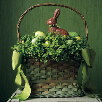 Clover and Eggs Basket