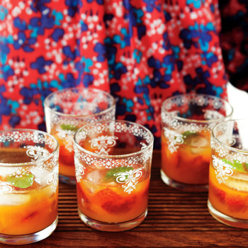 Minted Mandarin and Strawberry Coolers
