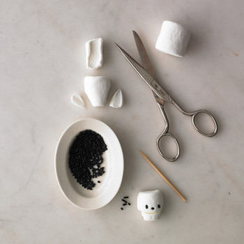 marshmallow skulls