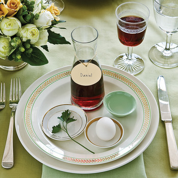 Seder Table Settings