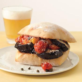 Roasted Eggplant and Tomato Sandwiches