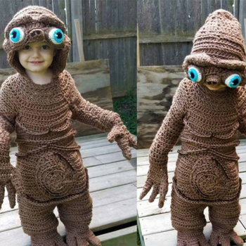 ET crocheted costume