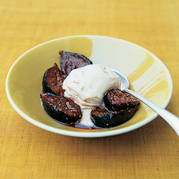 Figs Flambe with Port and Gelato