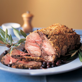 Boned Leg of Lamb Stuffed with Tapenade