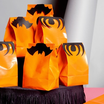 Bat and Spider Treat-Bag Toppers