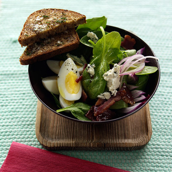 Spinach Salad with Turkey Bacon and Blue Cheese | Martha Stewart