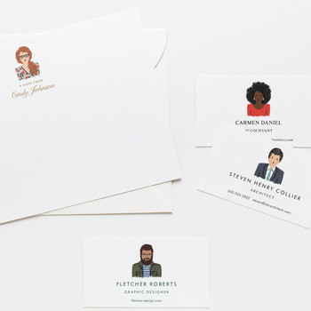 Custom portrait stationery from Rifle Paper Co.