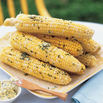 Steamed Corn on the Cob with Orange-Oregano Butter