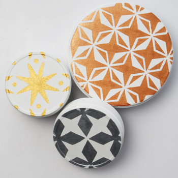 Stenciled Cookie Tins
