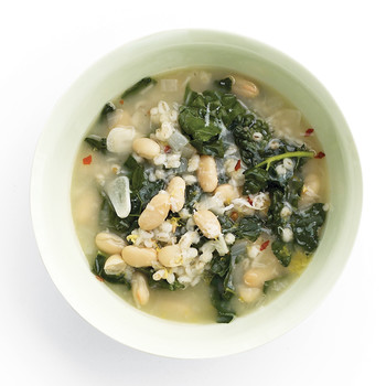 Black-Kale and White-Bean Soup with Barley