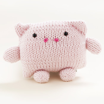 Loom-Knit Pig Toy