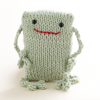 Loom-Knit Frog Toy