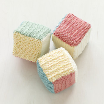 Loom-Knit Baby Blocks