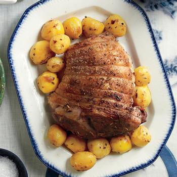 roasted lamb lemon rosemary potatoes