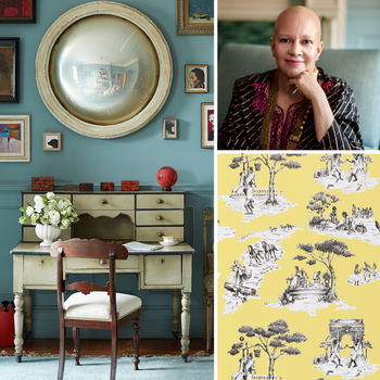 Sheila Bridges and her interior design work including Harlem Toile wallpaper