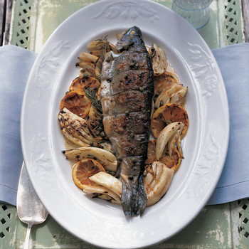 Grilled Lemon-Rosemary Trout