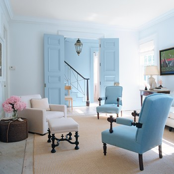 8 ways to play with color in your living room - Blue Color Living Room Designs