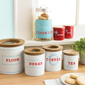 Martha Stewart Crafts Paint Customized Kitchen Containers