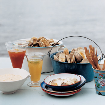 Spiked Clams and Oysters