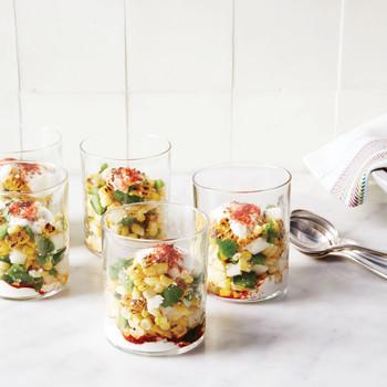Seasoned Roasted-Corn Salad Cups