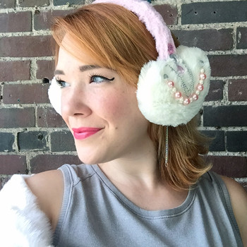 "Calling all ""Scream Queens"" Fans! Here's How to Embellish Your Own Earmuffs"