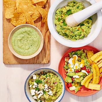 four kinds of guacamole