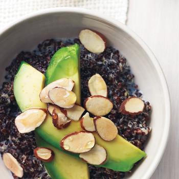 Black Quinoa with Avocado, Almonds, and Honey