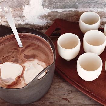 Hot Chocolate with Fresh Nutmeg
