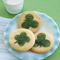 Sugar Cookies with Clovers