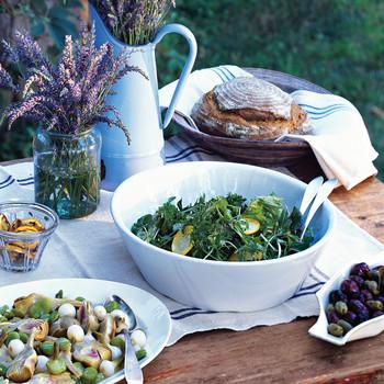Arugula, Zucchini, and Parmesan Salad