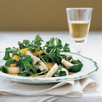Chicken Salad with Mango and Jerusalem Artichokes