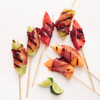 Grilled Prosciutto-Wrapped Melon