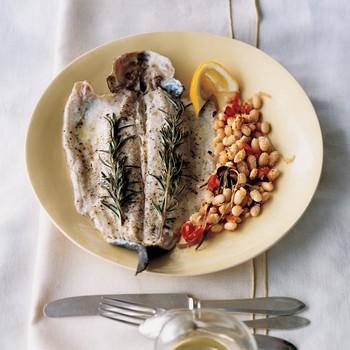 Trout with Rosemary and White Beans (Trota Al Rosmarino Con Fagioli)