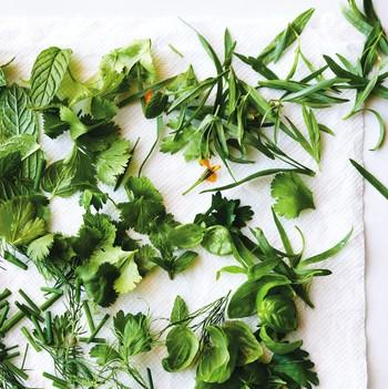 Herb salad from the Egg Shop Cookbook