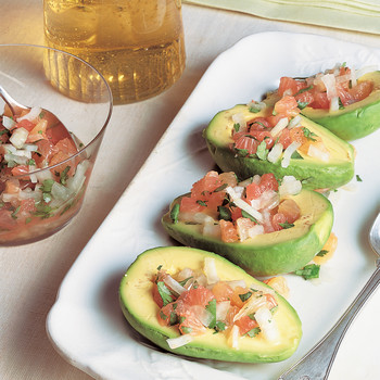 Avocado with Grapefruit and Sweet-Onion Salsa