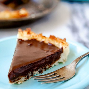 Coconut and Chocolate Pie for Two