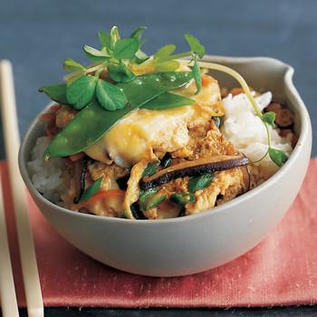 Vegetable-Egg Donburi