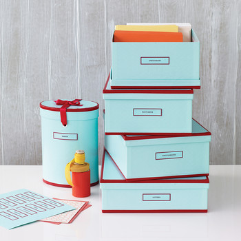 Stylish Storage Boxes with Labels