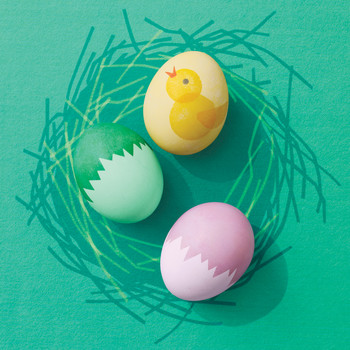 """Cracked"" Eggshells and Chick Designs"