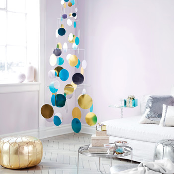 Metallic Foil Paillette Tree Mobile