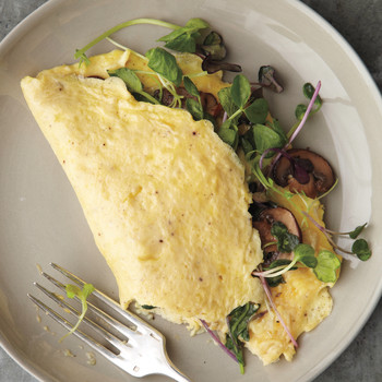 Mushroom-and-Microgreen Omelet