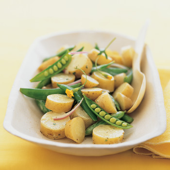 Fingerling Potato Salad with Sugar Snap Peas