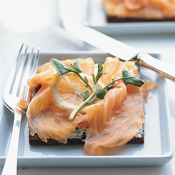 Smoked Salmon Danish Sandwiches