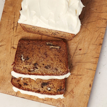 banana bread with frosting