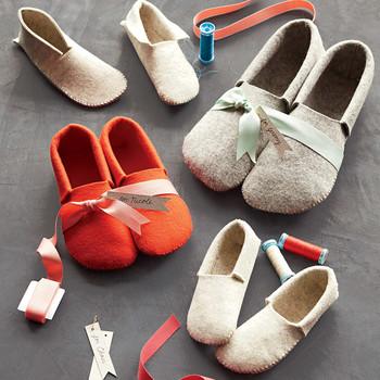 Stephanie's Sewn Felt Slippers