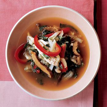 Mushroom and Chicken Hot Pot