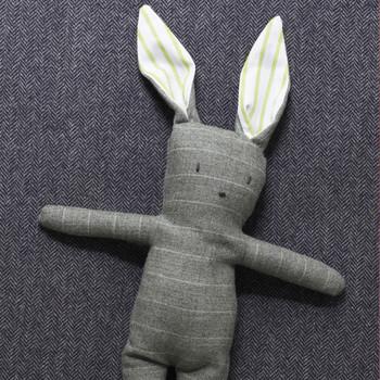 Stuffed Menswear Bunny