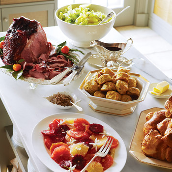 Ham with Currant-Rosemary Glaze