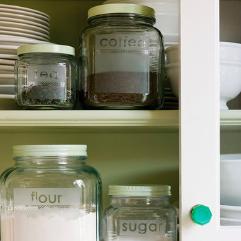 Etched Glass Storage Jars